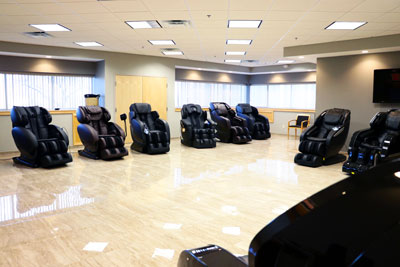 Massage chair store showroom